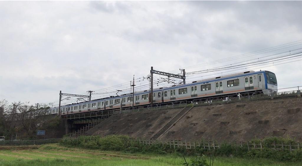 目久尻川を渡り海老名駅方面へと向かう9701F回送(2020/9/22)