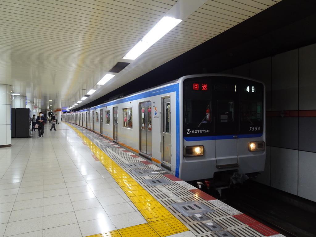 終点の大和駅に到着し回送列車となった7754F(2020/10/18)