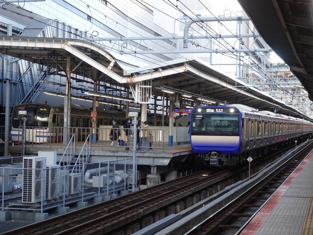 横浜駅10・9番線に停車中の横須賀線 E217系/E235系(2020/12/31)