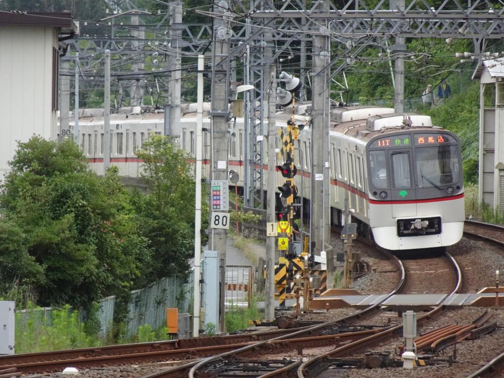 京成佐倉駅先の下り本線で折り返す都営5316F折り返し快速西馬込行き(2021/7/3)