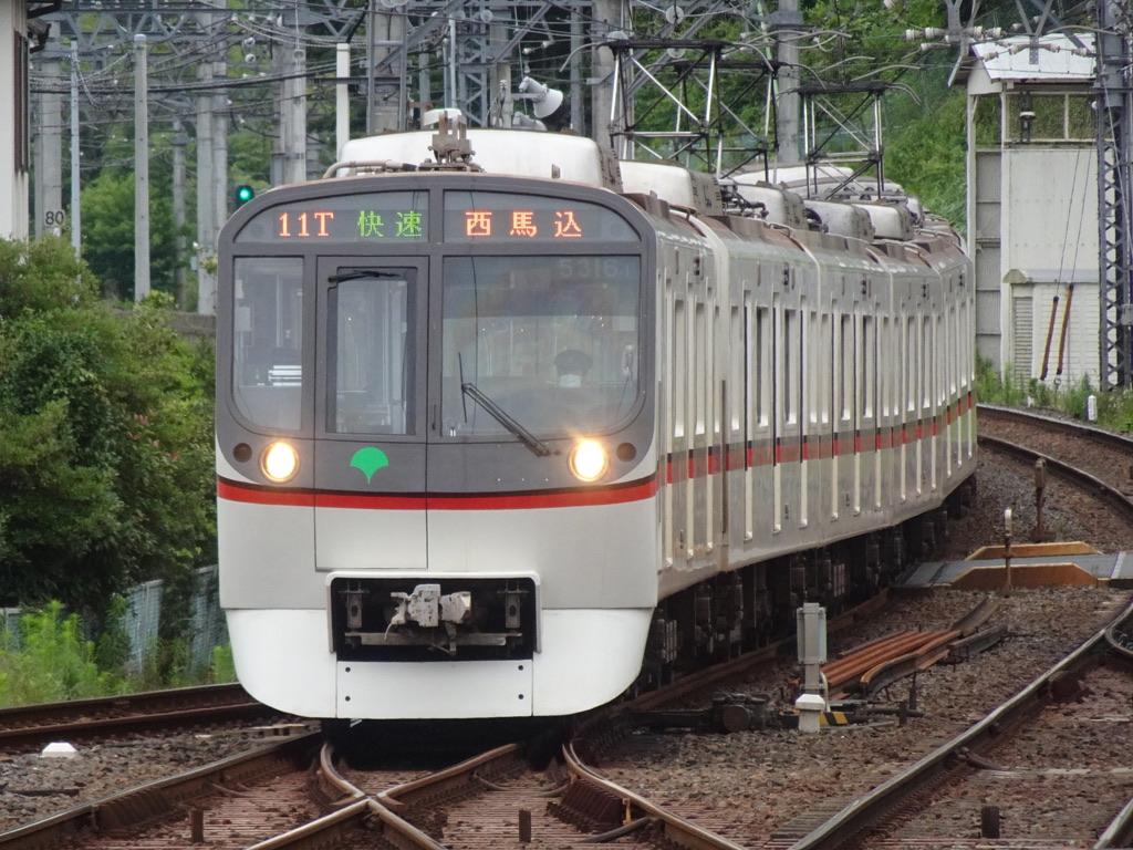 折り返し京成佐倉駅2番線に入線する都営5316F快速西馬込行き(2021/7/3)