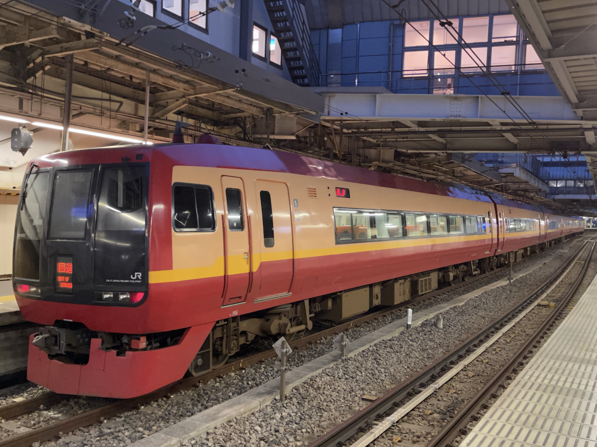 品川駅14番線に停車中の253系回送列車(2021/7/10)