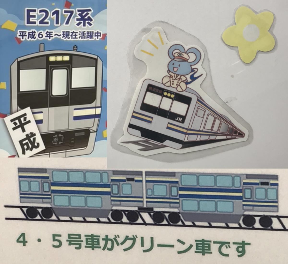 横浜駅構内で見ることができたE217系のイラストたち 2021年9月時点では確認できなかったが、復帰や新しいイラストも見られるかもしれない