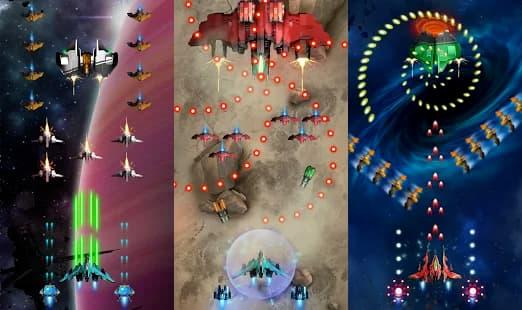 宇宙戦争:宇宙船シューティングゲーム ゲームアプリ紹介画像