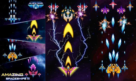 Alien War - Space Shooter ゲームアプリ紹介画像