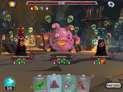 ダンジョンテイルズ 奇妙なモンスターが写っているゲームアプリ紹介画像