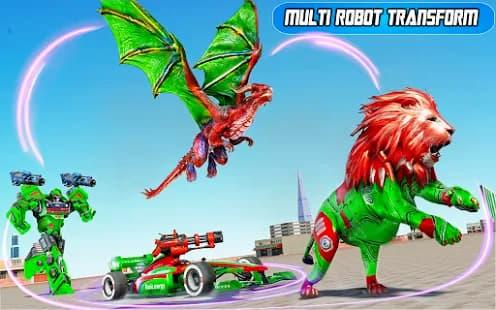 ドラゴンロボットカーゲーム ゲームアプリ紹介画像