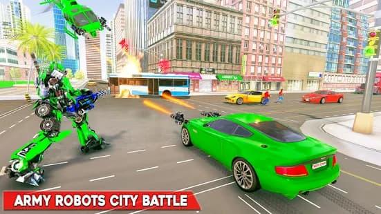 陸軍バスロボットゲーム ゲームアプリ紹介画像