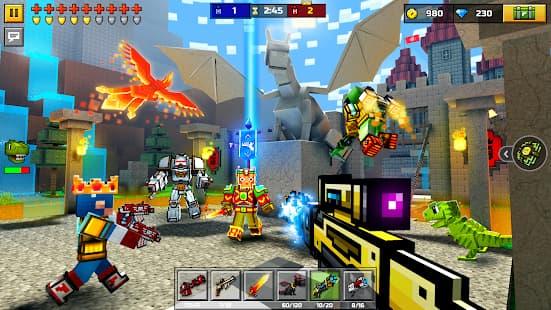 ピクセルガン3D プレイ中の様子の写真
