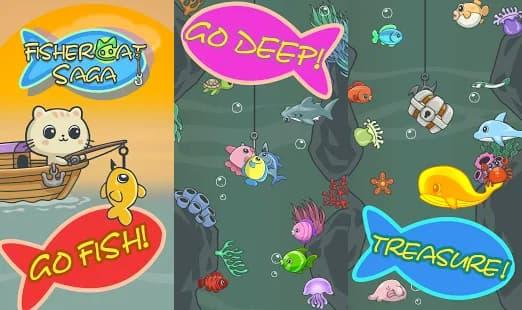 私の魚釣りにゃんこのゲーム ゲームアプリ紹介画像