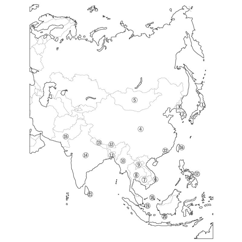 地図 東南アジア