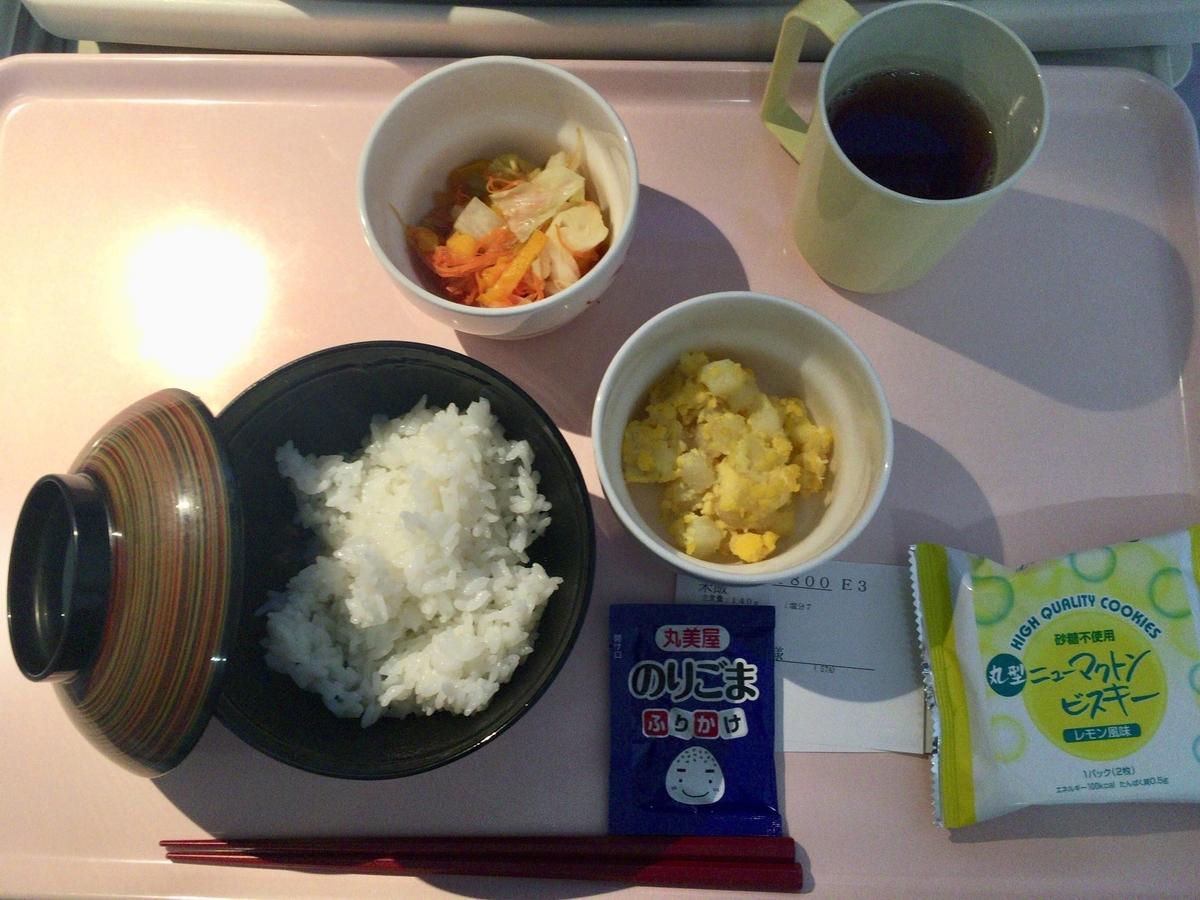 妊娠糖尿病検査入院3日目 6回食 朝食と間食