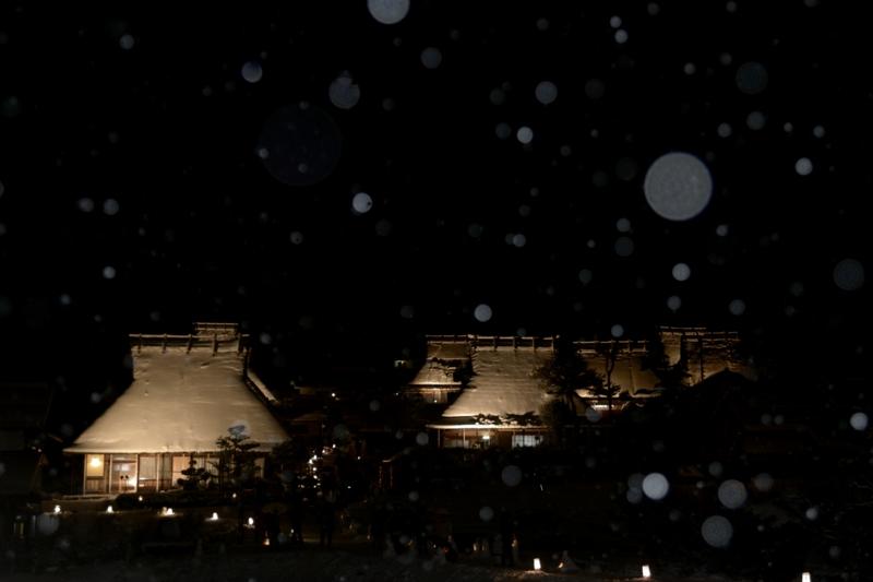 『京都新聞写真コンテスト  雪の降る里』