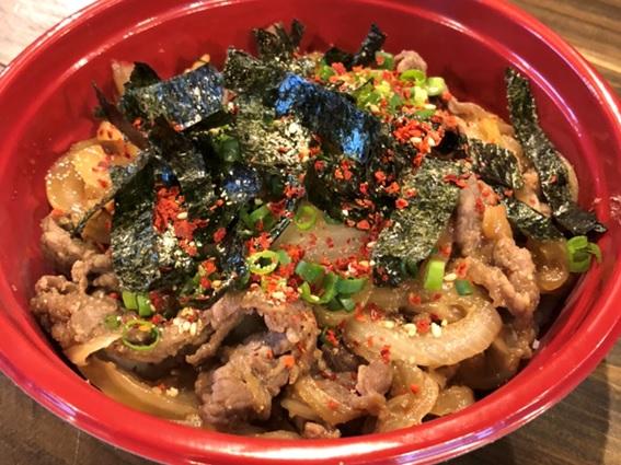 焼肉韓国料理 白虎児(ペットラジ)のテイクアウトメニュー「プルコギ丼」の写真