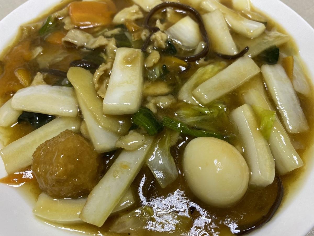 開華園のテイクアウト「八宝菜」の写真