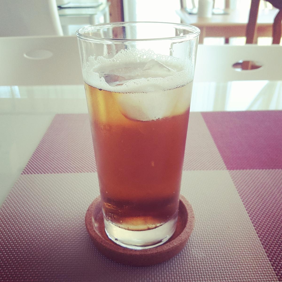 FuguMoonビビンパcafeのテイクアウトメニュー「炭酸コーヒー」の写真