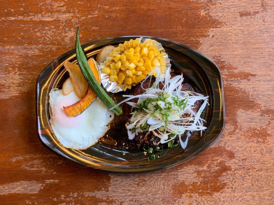 レストラン&カフェ ポテトのテイクアウトメニュー「和風ソースのハンバーグ」の写真