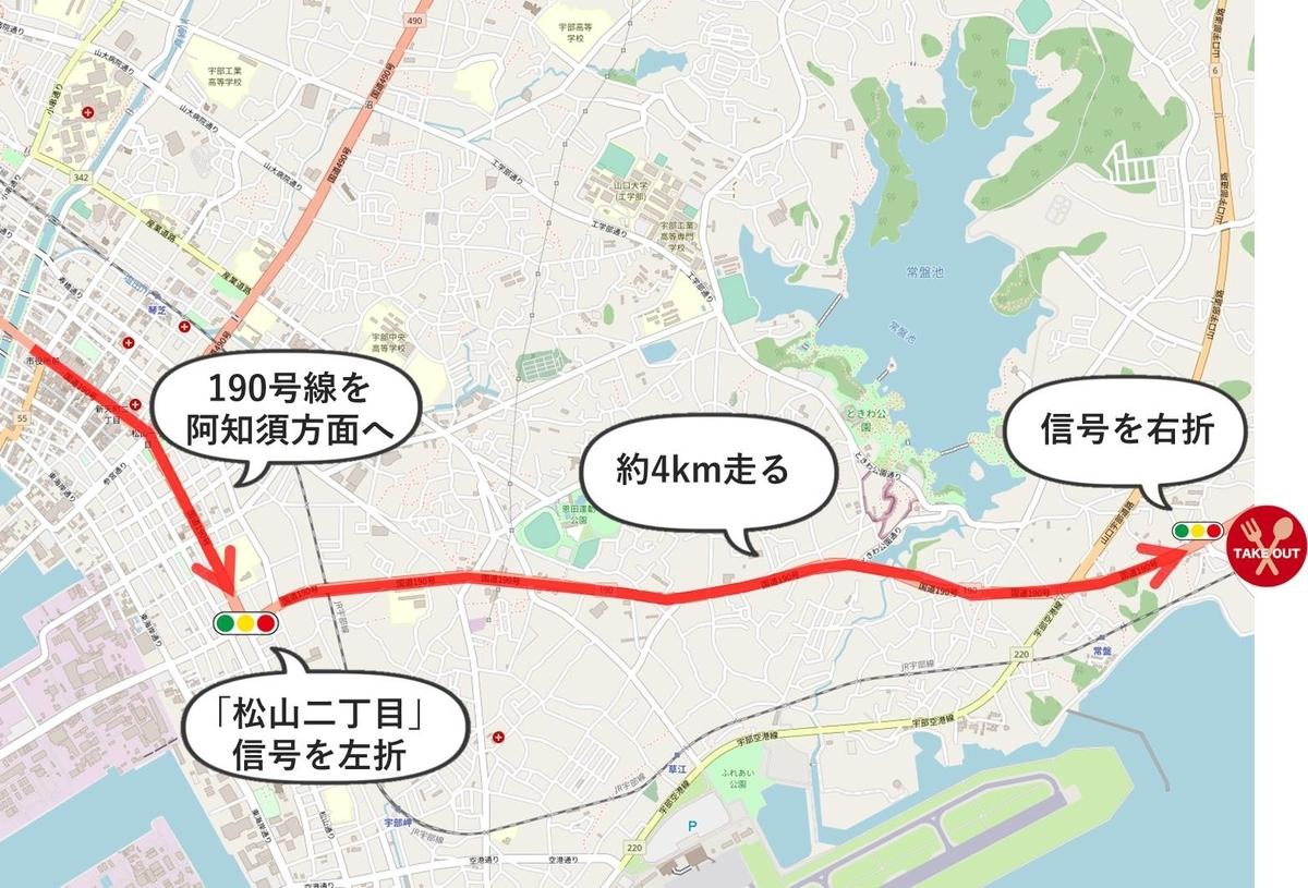 キッチンFUKUDAのルート地図