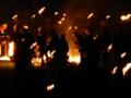 京都新聞写真コンテスト  祈りの火