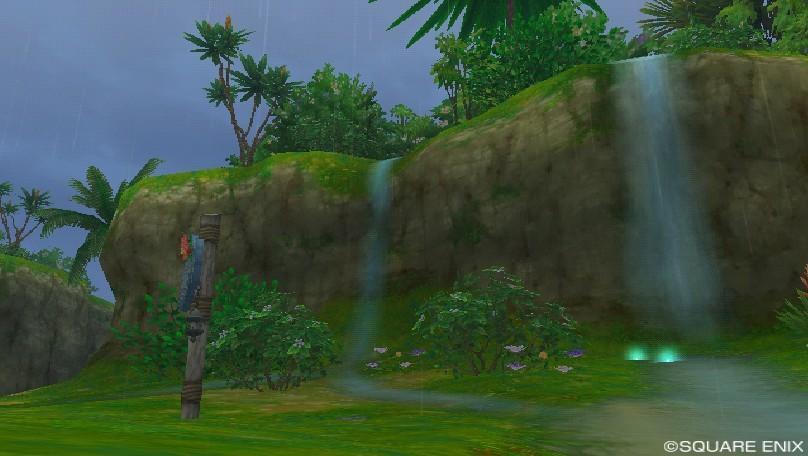 コルット地方の小さな滝