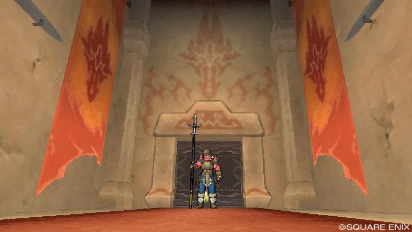 グレン城の玉座がある部屋の入口