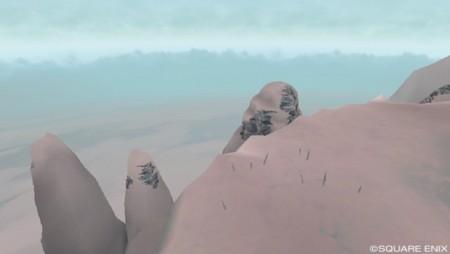 雲上湖から見下ろした崖