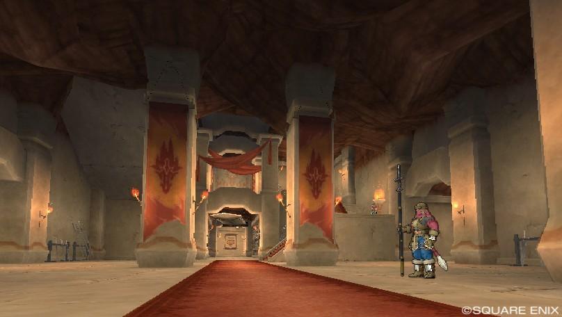 グレン城入り口