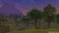 ガタラ原野の遺跡の森夕方夜に近い版