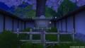王都カミハルムイ南の桜と看板。マナ撮影