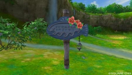 コルット地方の滝の前の看板_マナ撮影