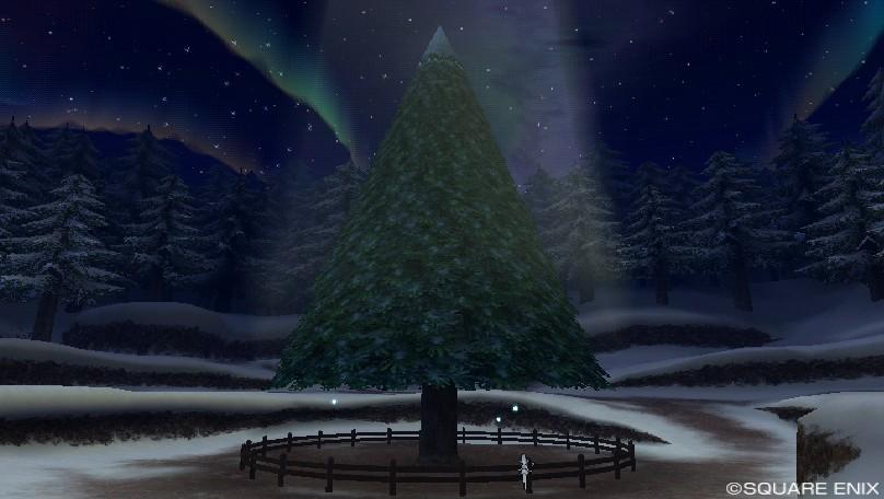 クリスマスイベント_星の大樹広場のツリー最初