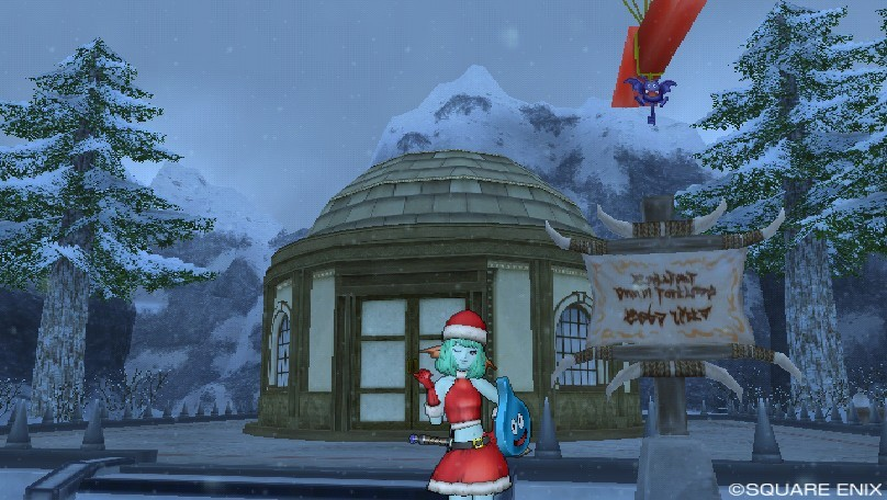 グレン住宅村の雪原地区で丸い家を建てました