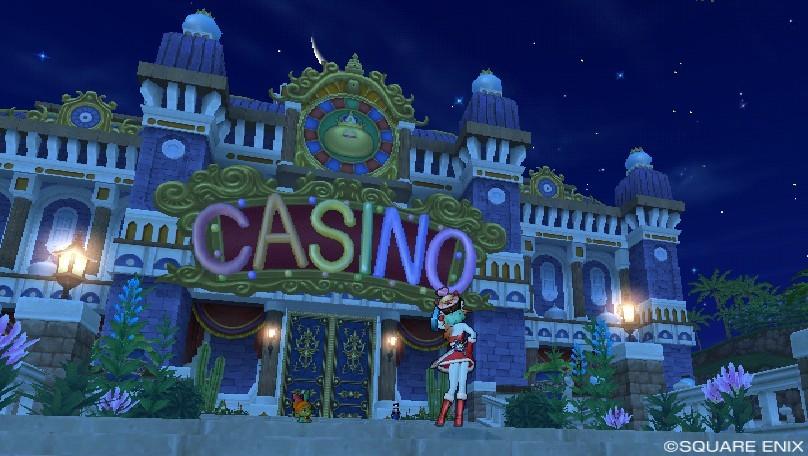 娯楽島ラッカランのカジノ前