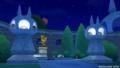 キラキラ大風車塔にて_白い線の先にいたププールと銅像