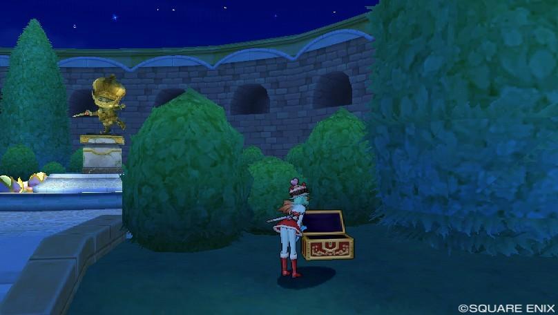 キラキラ大風車塔にて_銅像の近くにあった宝箱
