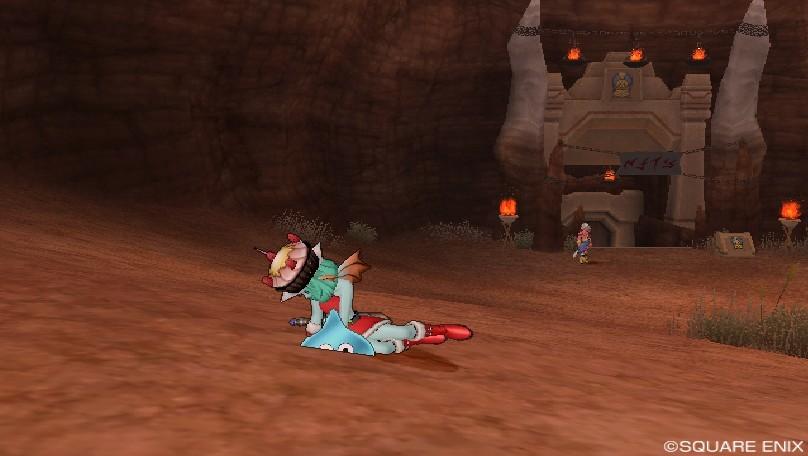 グレン城下町にて崩れ落ちるマナ