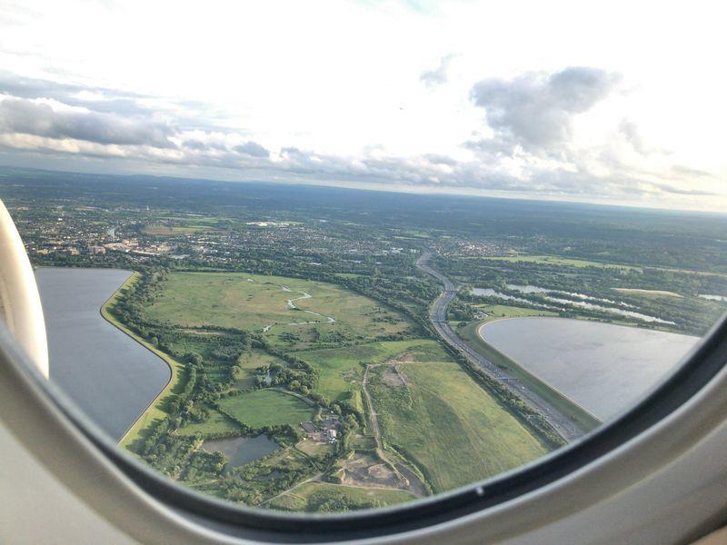 イギリス上空。飛行機から撮影