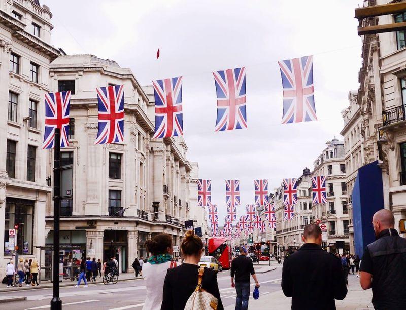 イギリスのロンドンの町並み