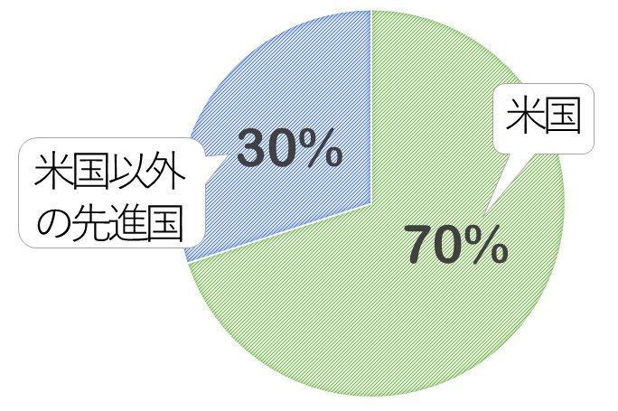 「<購入・換金手数料なし>ニッセイ外国株式インデックスファンド」の投資先イメージ。