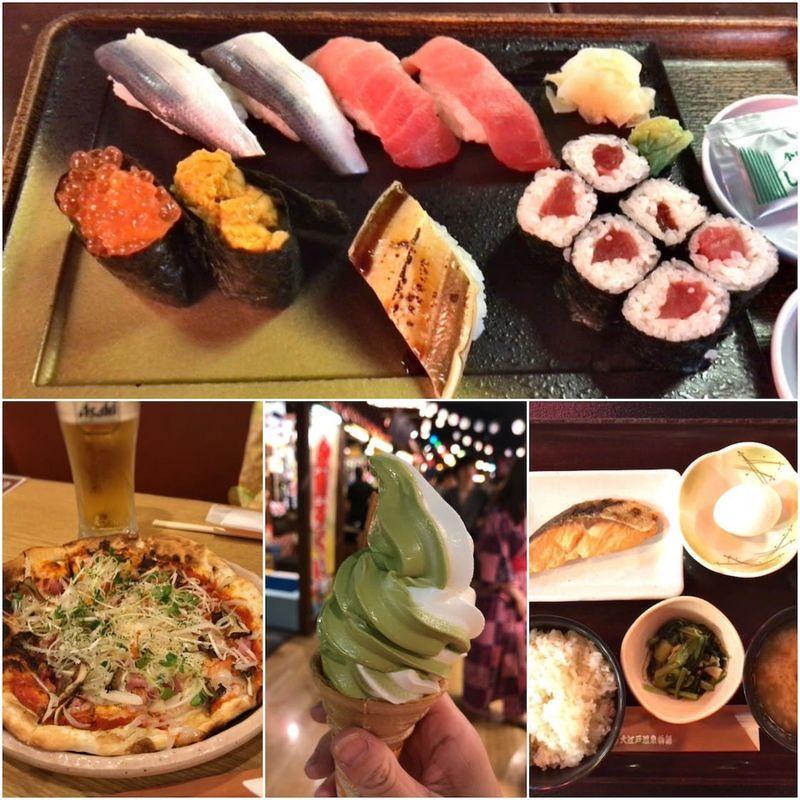 大江戸温泉物語(お台場)の食事