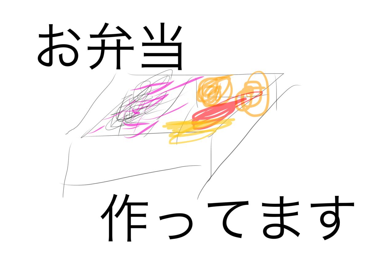 弁当のイラスト