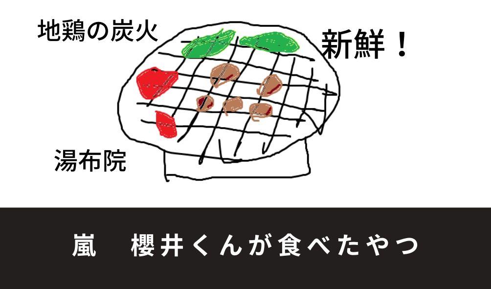 地鶏の炭火焼きのイラスト