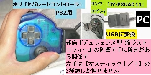 PC版バイオRE2でコントローラ&マウス二刀流【JoyToKey&x360ce】008