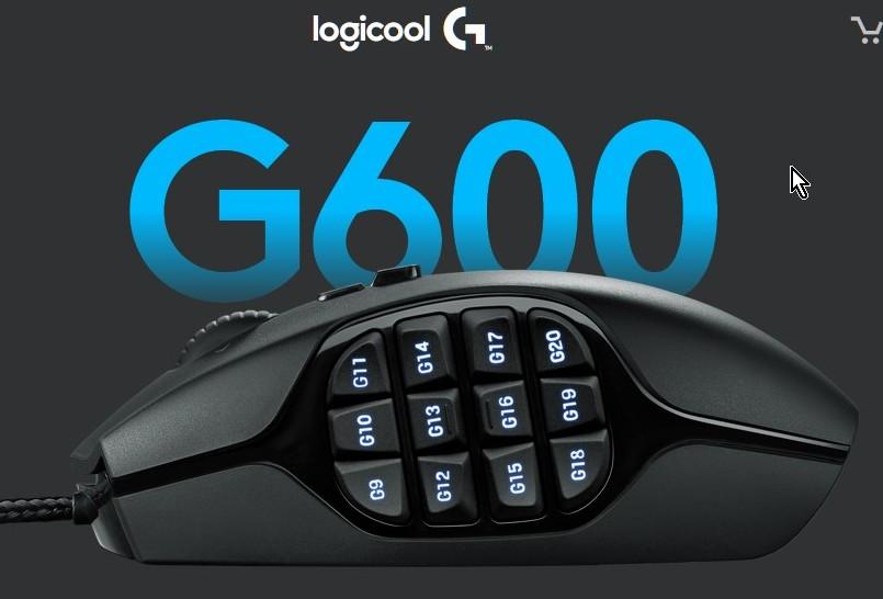 Logicool(ロジクール)社製 超多ボタン有線マウス『G600』