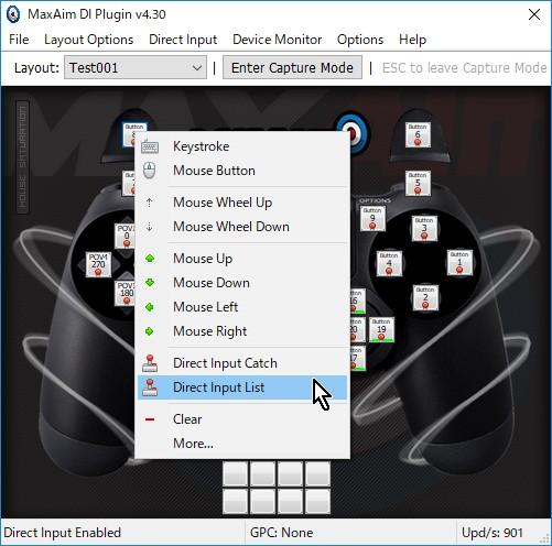 8-14.設定したいボタンを右クリック→Direct Input List