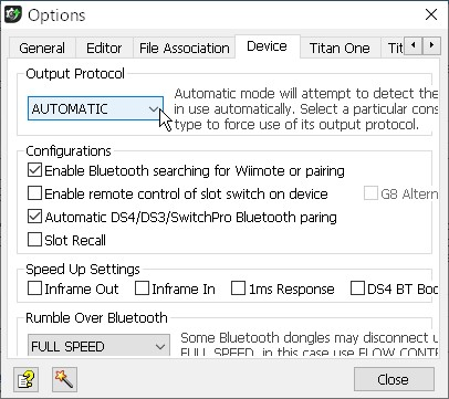 【「Gtuner Pro」メニュー】→【Tools】→【Options...】→【「Device」タブ】-1