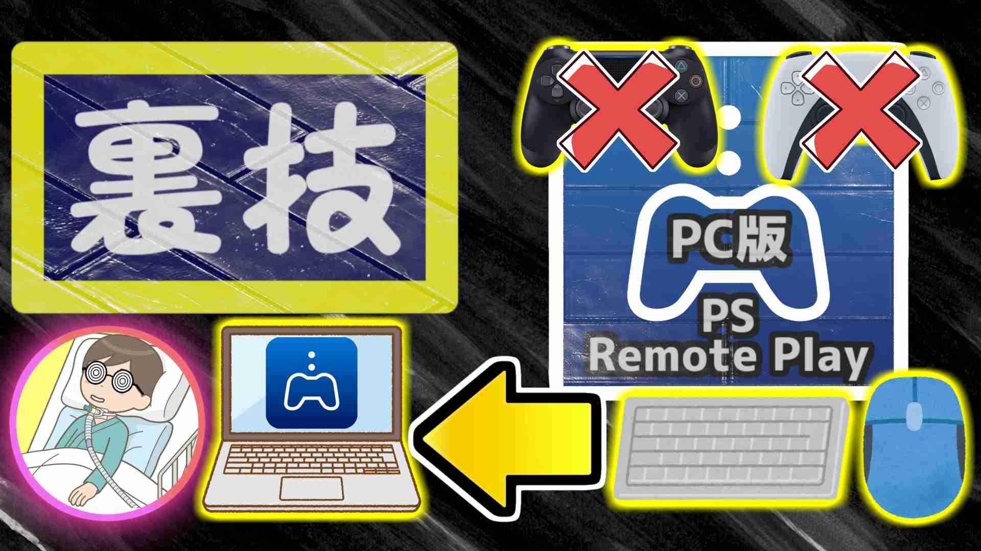 ブログ記事「【裏技】PC版PSリモートプレイでマウスとキーボードを使う【Titan One/Titan Two】」のサムネイル画像