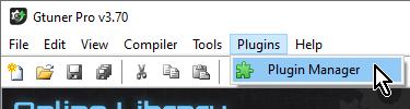 【Titan One】「Gtuner Pro」メニューの「Plugins」→「Plugin Manager」