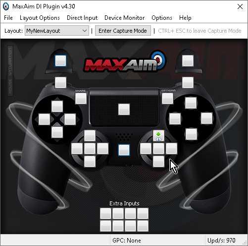 【Titan One】「MaxAim DI」で「右スティック上」にマウス「上方向」を設定