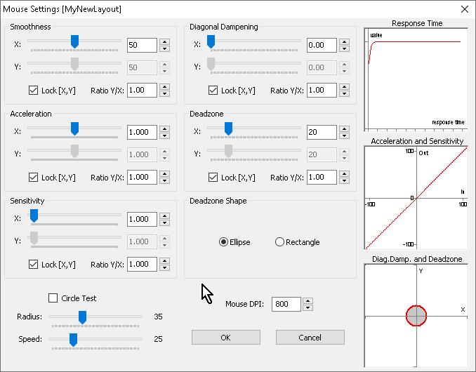 【Titan One】「MaxAim DI」メニューの「Layout Options」→「Mouse Settings...」
